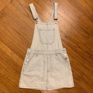 Forever 21 Denim Overall Dress Miniskirt S